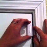 Mounting door contact on home security system