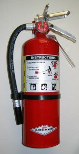 Fire prevention- fire extinguisher