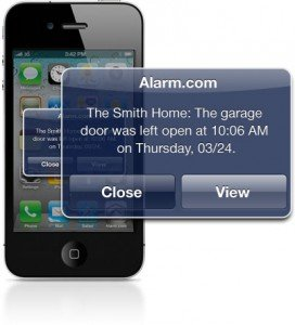 Garage Door Security Devices- Mobile Alert