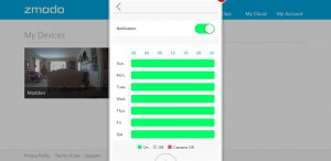 Zmodo App - Zmodo Camera Scheduling