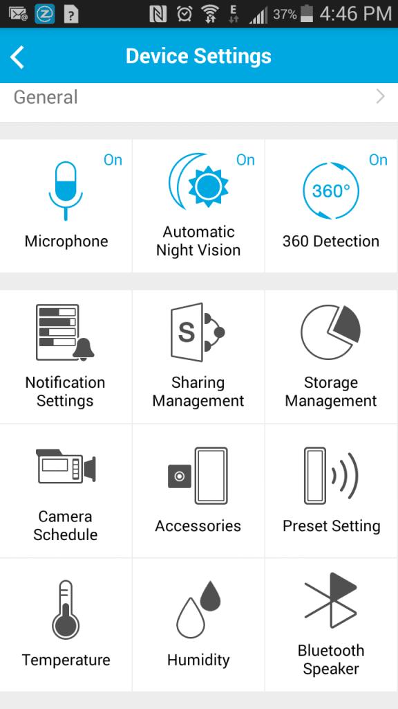 Zmodo App Settings
