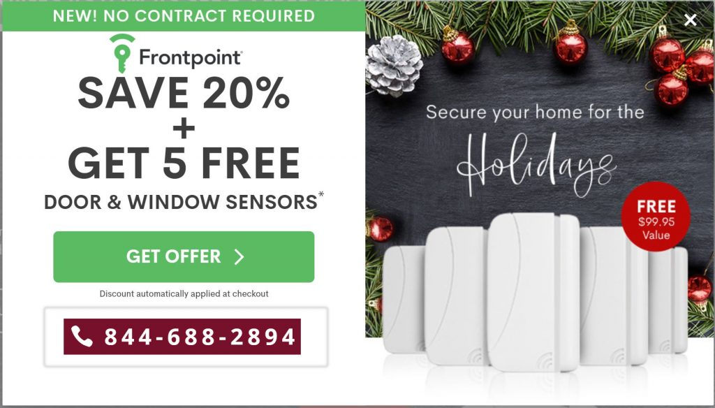 Frontpointy Cost of Holiday Promo