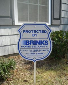 Brinks Home Security Systems- Yard Sign