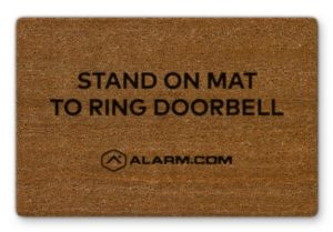 Alarm.com Cameras- Touchless Doorbell Video Camera Door Mat