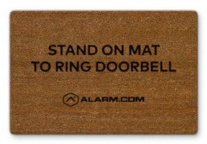 Alarm.com Cameras- Touchless Doorbell Video Camera Door Mat