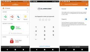 Alarm.com Reviews - Fingetprint Scan