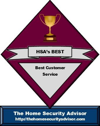 The Home Security Advisor's Best Security Systems for Customer Service Trophy