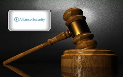 Alliance Security Reviews - Alliance Alarm Logo with gavel