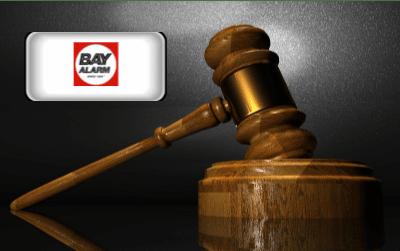 Bay Alarm Reviews - Bay Alarm logo and gavel
