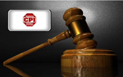 CPI Security reviews- CPI Security logo with wooden gavel