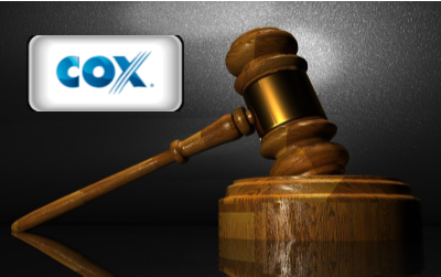 Cox Homelife - Cox Home Security logo with gavel