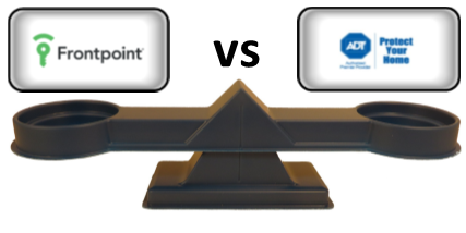 Frontpoint vs ADT Comparison Scale