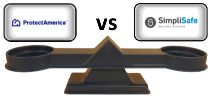 Protect America vs SimpliSafe - Scale