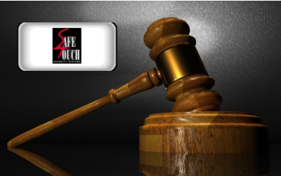Safe Touch Security - Safe Touch logo with gavel