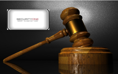Security One - Security One Alarm logo with gavel