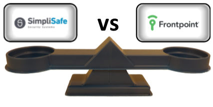SimpliSafe vs Frontpoint Comparison Scale
