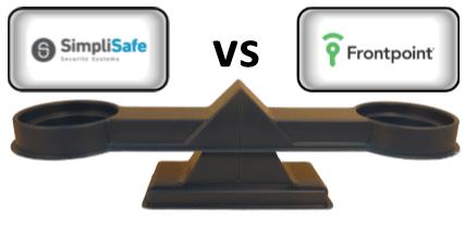 SimpliSafe vs Frontpoint Comparison Scale