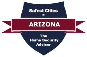 Safest Cities in Arizona Badge - 300