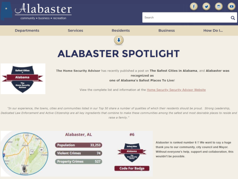 Alabaster Website clip