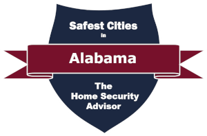 Safest Cities in Alabama Badge - 300