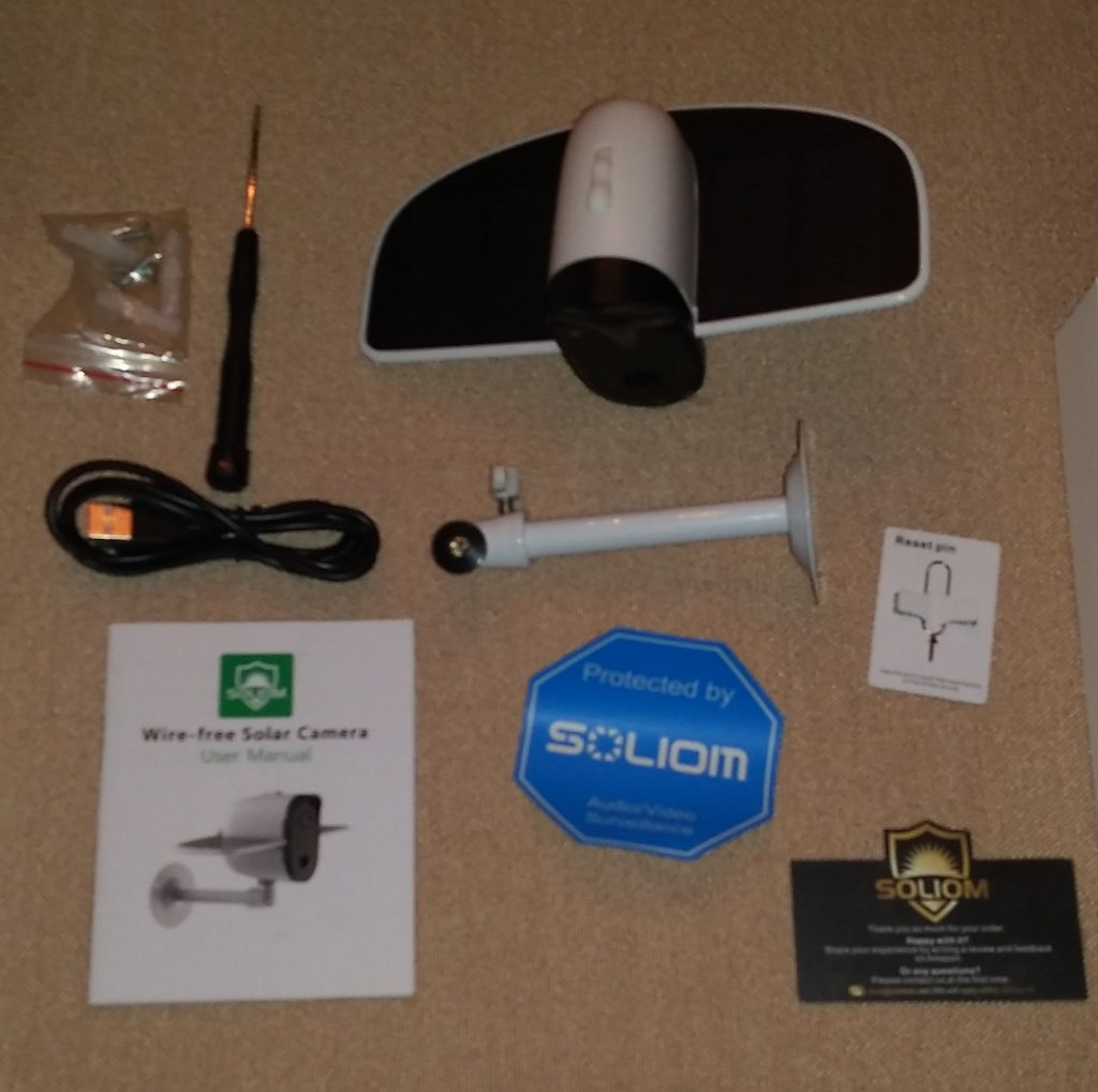 Outdoor Security Camera Reviews- Soliom S60 Solar Camera Contents