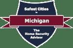 Safest Cities in Michigan Badge