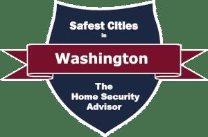 Safest Cities in Washington Badge
