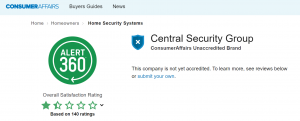 Central Security Group Ratings
