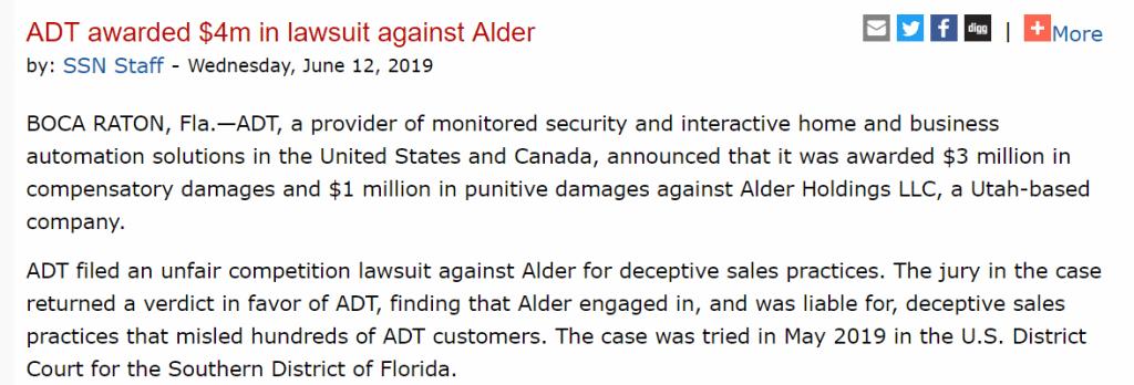 Alder Lawsuit-ADT