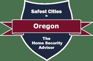 Safest Cities in Oregon Badge