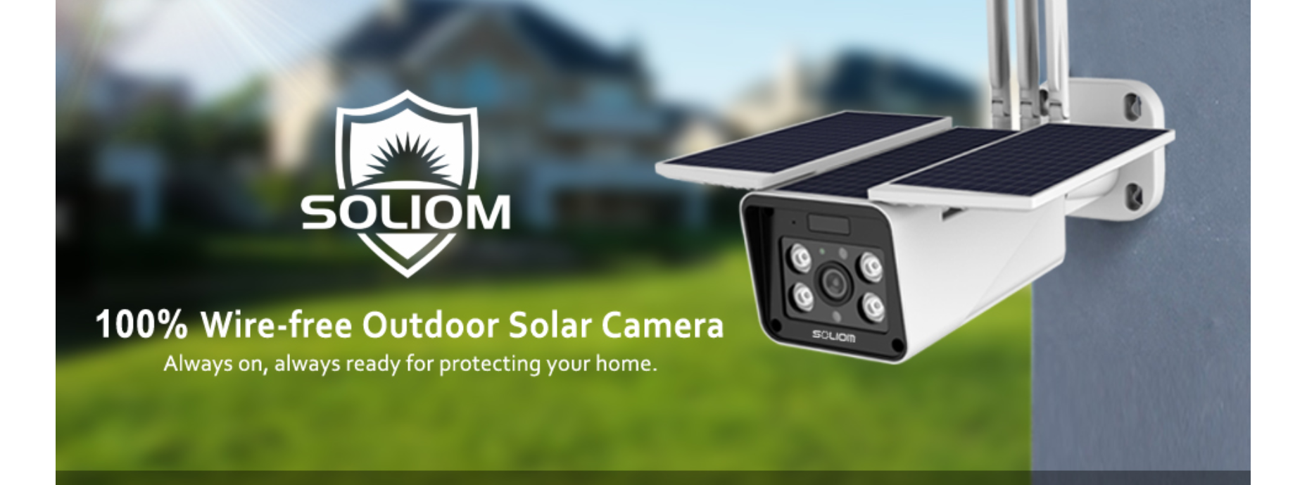 Soliom outdoor security camera reviews- lifestyle pic
