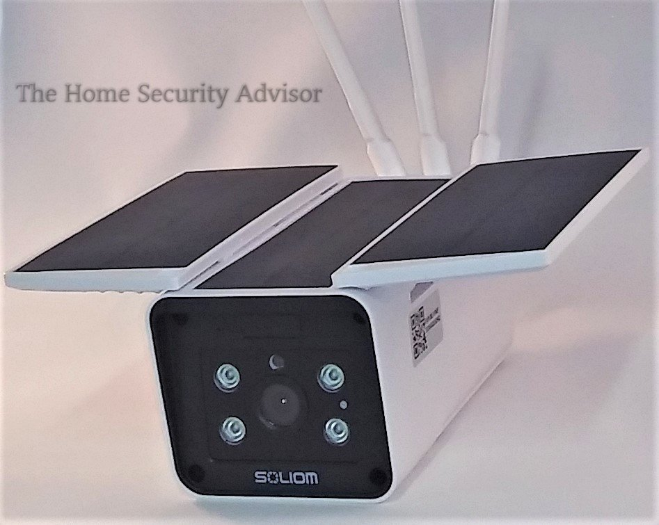 Soliom S90 Solar Powered Camera - Close Up