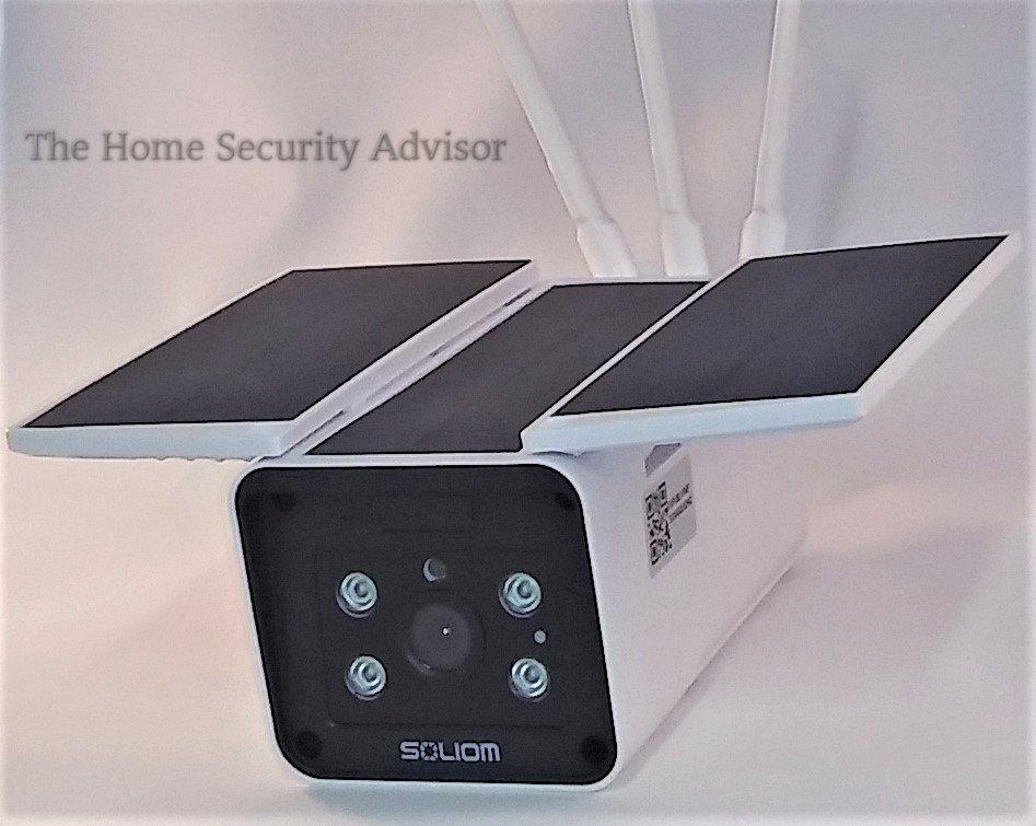 Soliom S90 Solar Powered Camera - Close Up