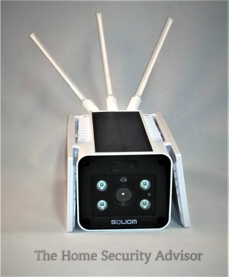 Soliom S90 Wireless Outdoor Solar Security Camera -Front View Panels Down