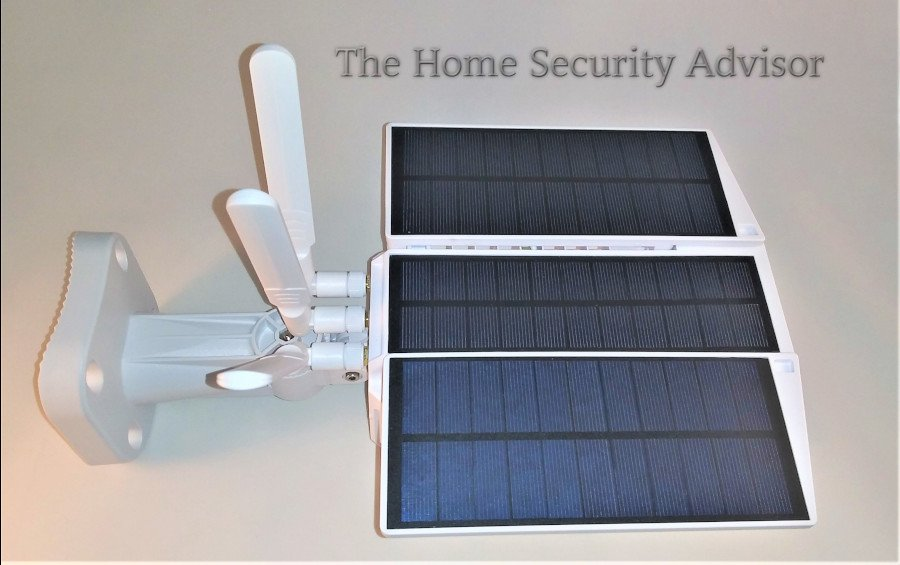 Soliom S90 Wireless Outdoor Solar Security Camera - Top View L