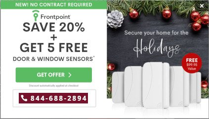 Frontpoint Security Holiday Promo