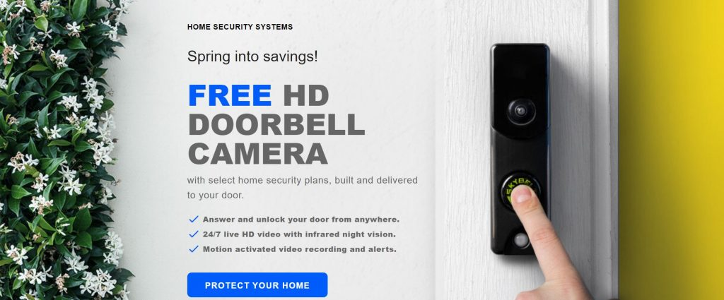 Protect America Security Reviews- Spring Sale-Free HD Doorbell